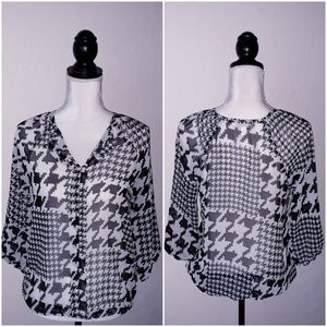 Charming Charlie Black and white Top